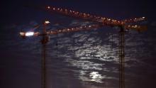 Two cranes near Tel Aviv